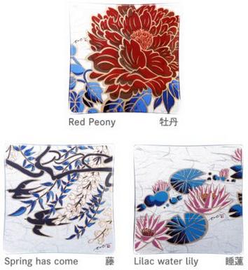 草木花~ガラスプレートセット